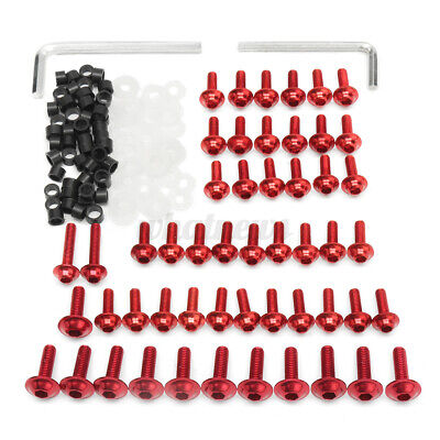 £12.89 • Buy 158x Motorcycle Fairing Screw Bolts Clips Kit For Yamaha YZF R6 1999-2002