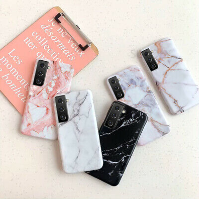 $ CDN4.53 • Buy Case For Samsung Galaxy S21 Note 20 S20 FE A42 Shockproof Marble Silicone Cover