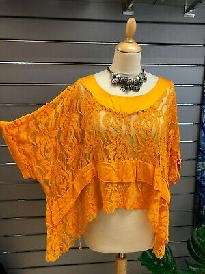 BNWT Made In Italy Plus Size Lace Lagenlook  Top OSFA ANY SIZE PLUS 12-26 60 B • 31.50£