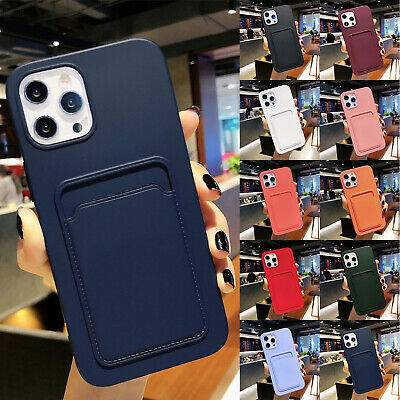 AU9.29 • Buy For IPhone 12 Pro Max 11 XS XR 8 7 Phone Case Silicone Wallet Card Holder Cover