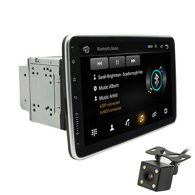 $204.20 • Buy 2DIN Rotatable 10.1'' Android 9.1 Touch Screen Car Stereo Radio GPS Wifi &Camera