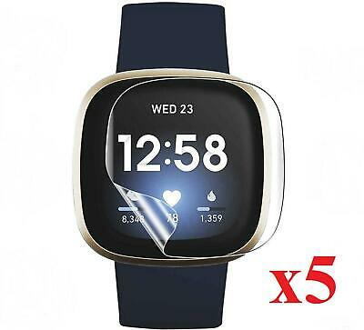 $ CDN5.09 • Buy For Fitbit Versa 3 5x Screen Protector Film Cover For Fitbit Smart Watch
