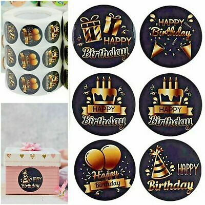 £1.99 • Buy Happy Birthday Present Thank You Labels Stickers Gift Craft Box Love Sticker