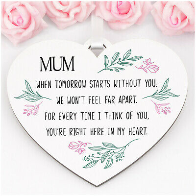 £6.99 • Buy Personalised Mothers Day Memorial Remembrance Heart Plaque Mum Nanny ANY NAMES
