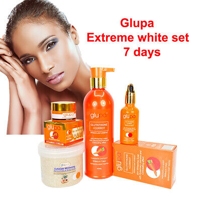 £10 • Buy Glupa Extreme Whitening Range For Half Cast Skin With Glutathione And Carrot