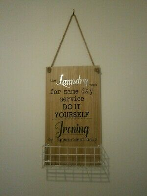 Novelty Hanging Wooden Laundry Wall Sign • 0.99£