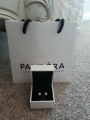 Pandora Tear Drop Earrings With Box & Bag • 17£