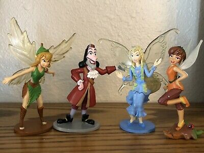 Disney Pirate Fairy Tinkerbell Figures Toys PCV - Lot Of 4 • 14.47£