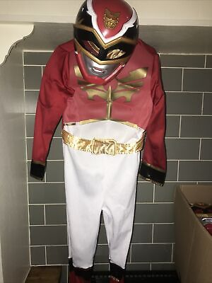 £34.95 • Buy Power Rangers Red Megaforce Fancy Dress Up Costume. Age 5-6 A