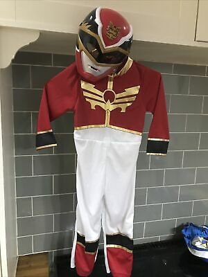 £34.95 • Buy Power Rangers Red Megaforce Fancy Dress Up Costume. Age 3-4 With Mask C