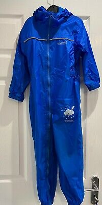 Boys Blue Regatta Waterproof Puddle Suit Age 5 Years  • 3.20£