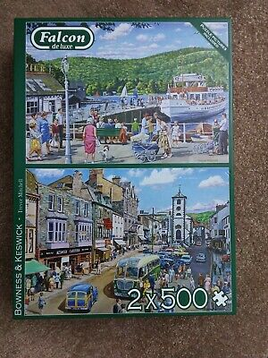 Falcon De Luxe 2/500 Piece Puzzles  Bowness & Keswick  By Trevor Mitchell. • 2£