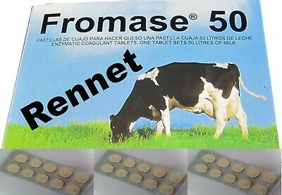 10 Rennet Tablets Coagulant Cheese Making 10 TABLETS Enough For 500L Of Milk • 11.75£