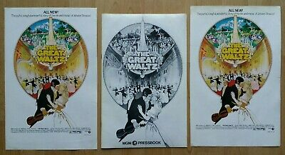 The Great Waltz Horst Bucholz Original Pressbook With 2 Posters 1972 Mgm • 12£