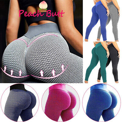 Women's Anti-Cellulite High Waist Yoga Pants Gym Leggings Sports Elastic Trouser • 4.99£