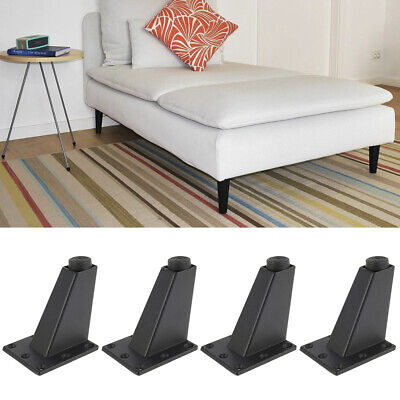 4X Metal Furniture Legs Feet Replacement Table Bed Sofa Stool Couch Cabinet 8cm • 6.99£