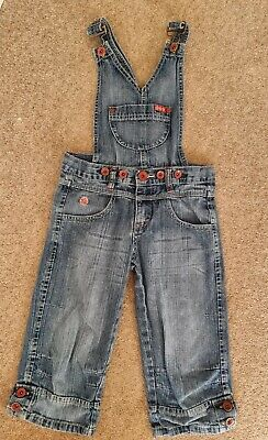 Girls Age 11-12 152cm  Dungarees Cropped Denim Removeable Top Half Beauty • 5.99£