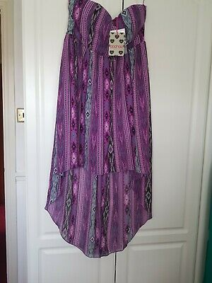 Ladies New High Low Dress By Boohoo Size 16 • 4£