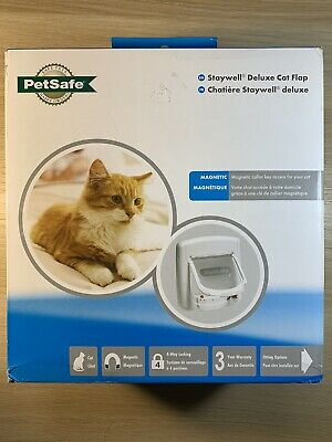 £29.99 • Buy PetSafe Staywell, Deluxe Magnetic Cat Flap, White, Selective Entry, 4 Way