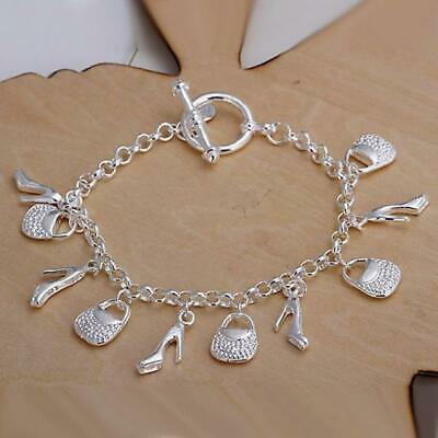 £3.99 • Buy Fashionable Trendy Sexy Mens/Womens Dangling 925 Sterling Silver Charm Braclet
