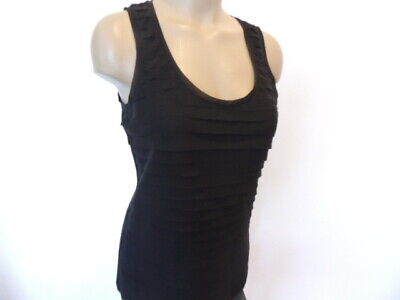 $ CDN6.33 • Buy White House Black Market Size Small Black Tiered Sleeveless Top