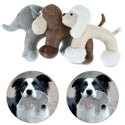 AU12.82 • Buy Dog Interactive Chew Toys Indestructible Stuffed Squeaky Pet Sound Squeak Toy AU