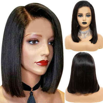 £12.69 • Buy Womens Real Natural Short Straight Hair Wig BOB Style Cosplay Party Full Wigs UK