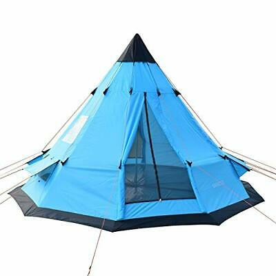 AU382.86 • Buy SAFACUS Teepee Tent For Adults 5-6 Person Family Camping Tent, Two Doors