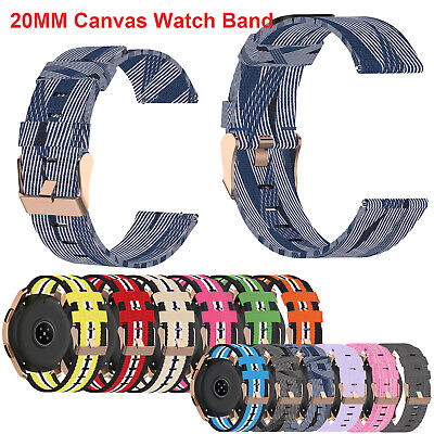 AU8.99 • Buy Canvas Watch Strap Band For Samsung Galaxy Watch 3 42mm Active Watch 1 2 Gear S2