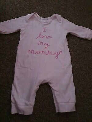 Blue Zoo Baby Girls Sleepsuit 3-6 Months • 1.99£