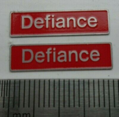 AU17.83 • Buy 50049 Defiance. O Gauge Etched 7mm Scale Plates. Self Adhesive. Red B/g
