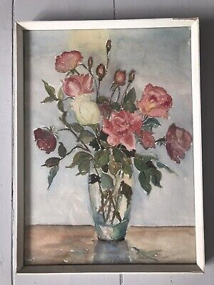 £60 • Buy Vintage Floral Watercolour Painting 1940's