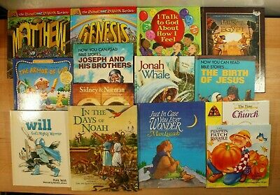 £13.48 • Buy BIBLE STORIES & CHRISTIAN BOOKS For Children! All Hardcover, Lot Of 14 FREE SHIP