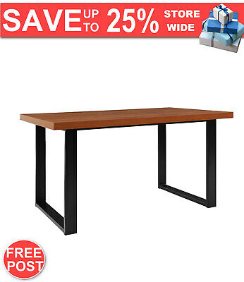 AU354.09 • Buy Artiss Dining Table 6 Seater Wooden Kitchen Tables Cafe Oak Black