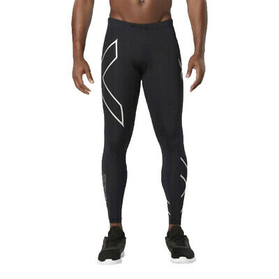 £49.99 • Buy 2XU Mens Compression Tights Bottoms Pants Trousers Black White Sports Running