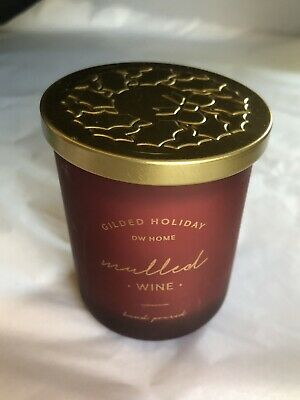 £9.20 • Buy DW HOME RICHLY SCENTED Mulled Wine HAND POURED Glass Jar Xmas CANDLE 3.8oz 107g