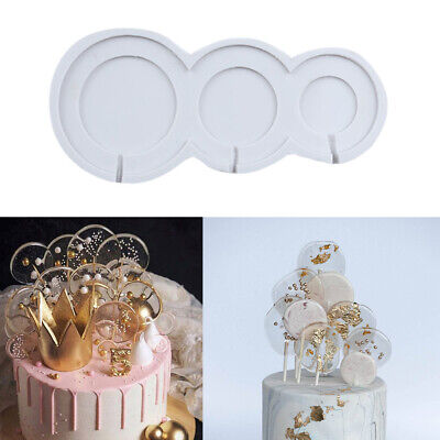 £3.25 • Buy Round Silicone Fondant Cake Mold Chocolate Mould Lollipop Lolly Candy Baking DIY
