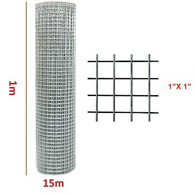 £35.99 • Buy Chicken Wire Welded Mesh Aviary Fence 1 X1  Squire 1m X 15 Meter Roll '