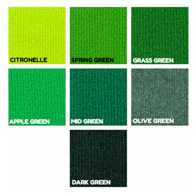 £30.50 • Buy CORD Green Olive Lime | Ribbed Carpet Recyclable Ideal Temporary Budget Flooring