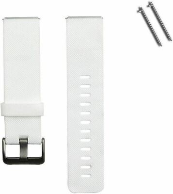 AU24.99 • Buy Soft Silicone Rubber Sport Watch Band For Fitbit Blaze Fitness Tracker - White