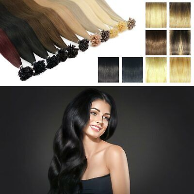 £24.99 • Buy Glossy Drawn Deluxe Human Hair Extensions Highlight Size Full Nail U Tip Hair
