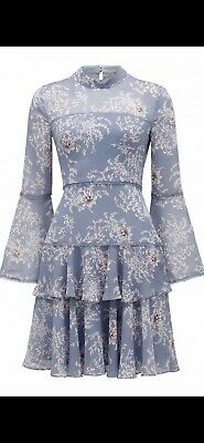 AU69.99 • Buy FOREVER NEW PRINTED ARCHIE FLARE SLEEVE FLORAL DRESS SZ 10 Wedding Party