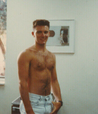 $ CDN15.72 • Buy GAY INT ORIGINAL VINTAGE PHOTO BEAUTIFUL YOUNG MAN 1980s HANDSOME HAIRY CHEST