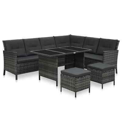 Garden 6/8 Seater Large Rattan Bistro Dining Table And Chair Set Patio Furniture • 1,911.95£