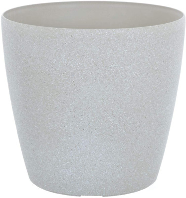 £12.99 • Buy Round Plastic Plant Pot Flower Planter With Sandstone Effect For Outdoor Garden