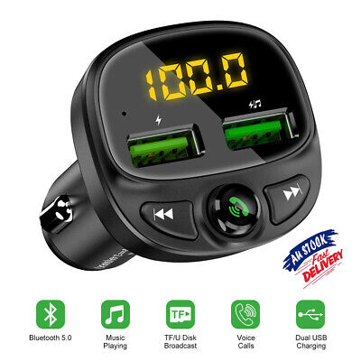 AU17.99 • Buy Car Phone Bluetooth Charger Transmitter FM Radio IPhone Android Wireless Adapter