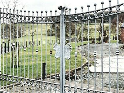 £213 • Buy Wrought Iron Driveway Gates And Railings Ornate Steel Fabrication Garden Estate