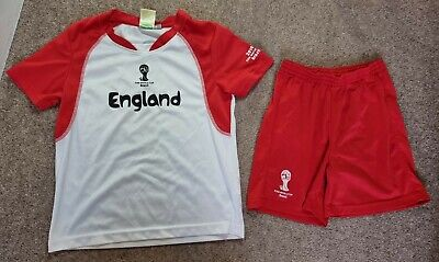 £9.99 • Buy Childs Age 8-9 9-10 England Football Kit Brasil 2014 World Cup Top & Shorts