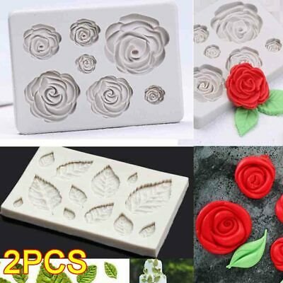 Rose Leave Silicone Fondant Mould Cake Sugarcraft Flower Decorating Candy Mold  • 4.75£