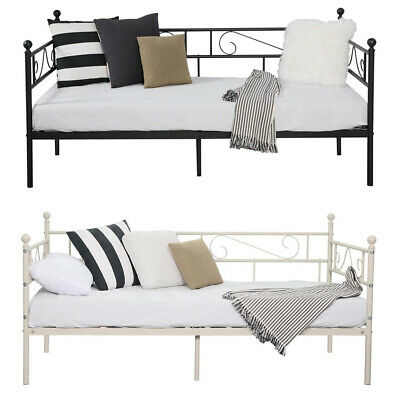 £59.99 • Buy 3ft Metal Single Day Bed Frame Guest Sofa Bed Daybeds For Living Room Bed Room
